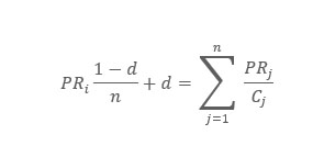 Pagerank formel
